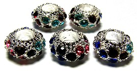 Beads 5pcs Charms Pack Silver Multi Color BD271