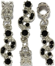 3pc Charm Moon Sun Rhinestone Black BD2769