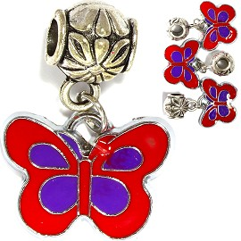 4pcs Charm Butterfly Red Purple BD2842