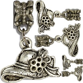 5pc Charm Hat Silver BD2922