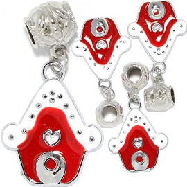 4pc Charm House White Red BD3018