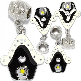 4pc Charm House White Black BD3020
