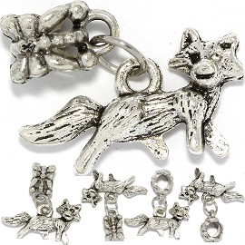 5pc Charm Fox Silver BD3032