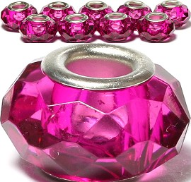 8pcs Crystal Beads Magenta BD3067