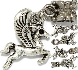 5pc Charm Pegasus Flying Horse Silver BD3100