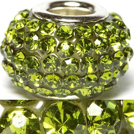1pc Bead Rhinestone Apple Green BD405