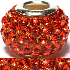 1pc Rhinestones Bead 15x10mm Orange BD427