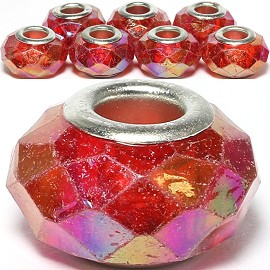 8pcs Crystal Beads Red Aura Borealis BD455