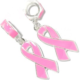 2pc Charms Pink Ribbon Breast Cancer Awareness BD456