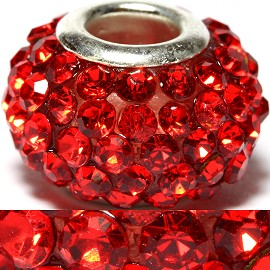 1pc Rhinestones Bead 15x10mm Red BD464