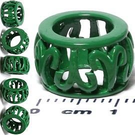 6pcs Charm Green BD469