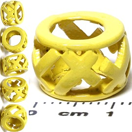 6pcs Charm Yellow BD490