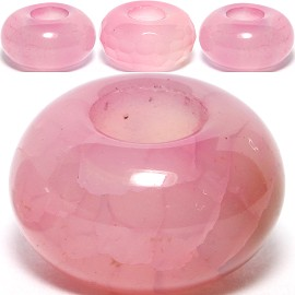 4pc Agate Stone Bead Pink BD515