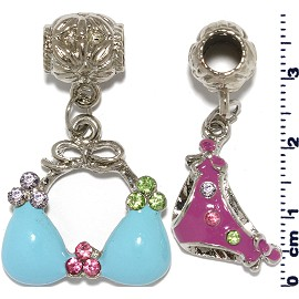 1Set Blue purple Charm BD546