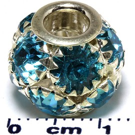 1pc AWE Bead Disco Ball Rhinestones 13x12mm Turquoise BD549