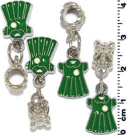 4pcs Green Charm BD553