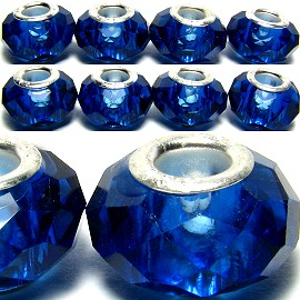 8pcs Crystal Beads Blue BD650