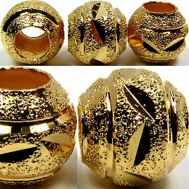 Beads 5pcs Charms Pack Ball Gold BD773