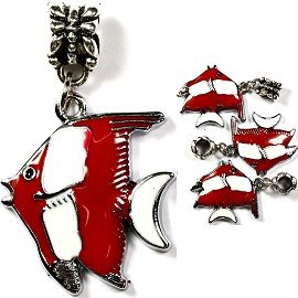 4pcs Charms Pack Fish Red BD852
