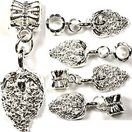 Bead 5pc Charms Strawberry Silver BD880
