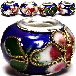 3pcs Beads Cloisonné Blue BD953