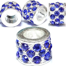 2pc Charm Rhinestone Blue BD981