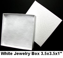 100pc White Jewelry Box BX25 DBX2833w