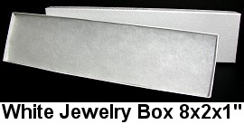 100pc White Jewelry Box BX26W DBX2882w
