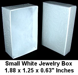 "100pcs Small White Jewelry Box 1.88"" Inches DBX2810w BX29"