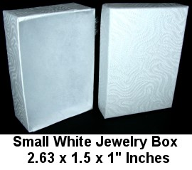 "100pcs Small White Jewelry Box 2.63"" Inches DBX2821w BX30"