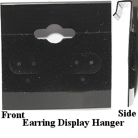 100pcs Earring Display Hanger Black 38x37x5mm BX571
