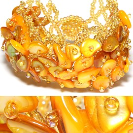"7"" Shell Bracelet Yellow CB086"