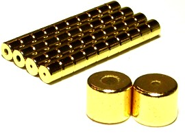 Gold Strong 5x5mm Magnetic End Connectors 20 Pair