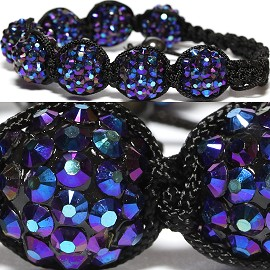 Shamballa Bracelet 14mm Crystal Solid Blue Purple Aura CX216