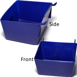 "4pc Pocket Tray Hanging Holder Blue 3.5x3x2"" Ds08"