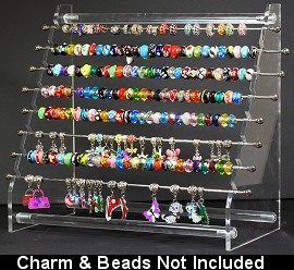 "Charms Beads Display12x10x6"" Inches Clear Ds109"