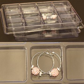 5pcs Clear Plastic Tray 12 Pockets (L) Ds123