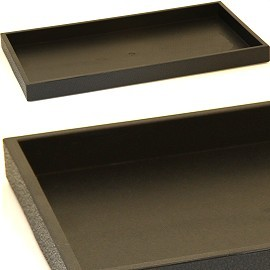 "1pc 15x8.5x1"" Plastic Display Tray Black Ds159"