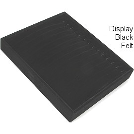 "9"" x 7.5"" x 1.5"" Black Velvet Stackable Tray, 14 Hooks Ds171"