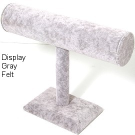 "Gray Bracelet Display Bar Stand 9""W x 7""H Ds174"