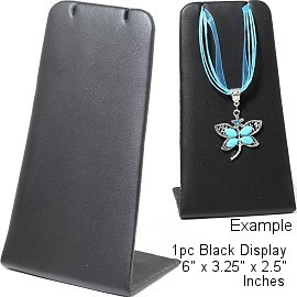 "1pc Display Stand Bendable Flat Black Leather Large 6"" Ds203"