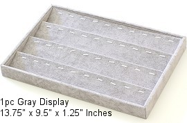 "1pc Display Holds 40 Pendants or Jewelry Items Gray 13.75"" Ds213"