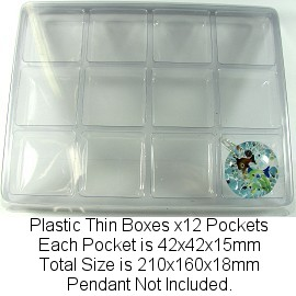 8pcs Clear Plastic Tray 12 Pockets (S) Ds50