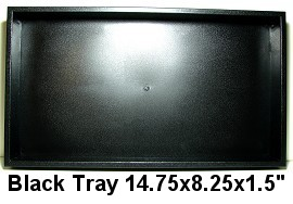 1pc Plastic Display Tray Black Ds87