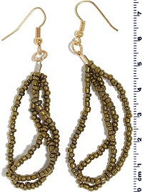 Seed Beads Earring Gold EB100