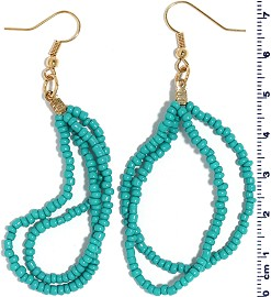 Seed Beads Earring Blue EB104