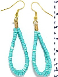 Seed Beads Earring Turquoise Color EB109