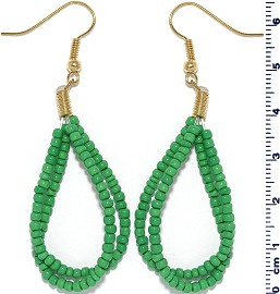 Seed Beads Earring Green EB113