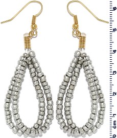 Seed Beads Earring Gray Gold EB115