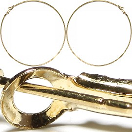 "12Pair Hoop Earrings 3.875"" Inches Gold EB317"
